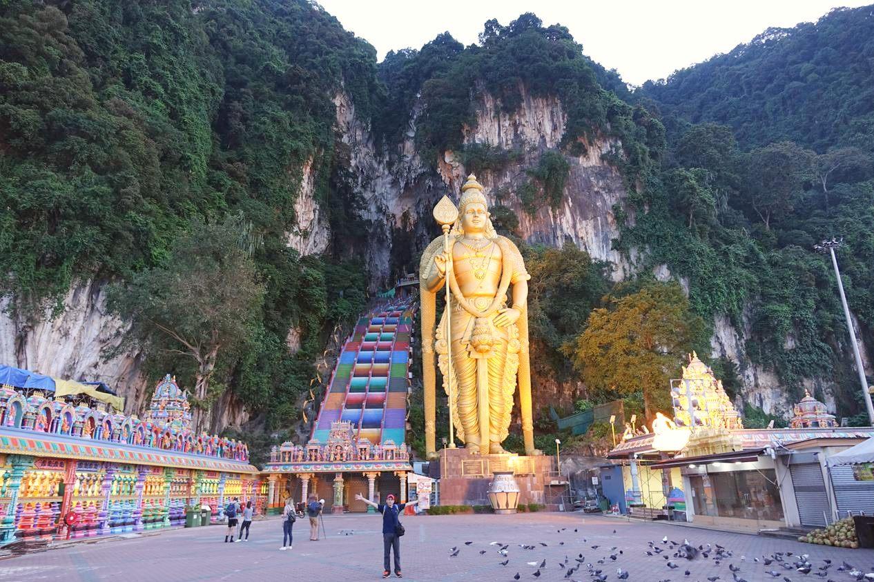 Cuevas de Batu desde Kuala Lumpur en Malasia