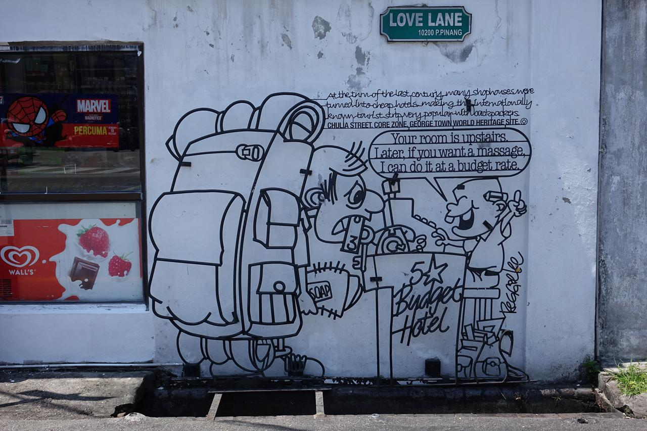 Arte urbano en George Town en Malasia