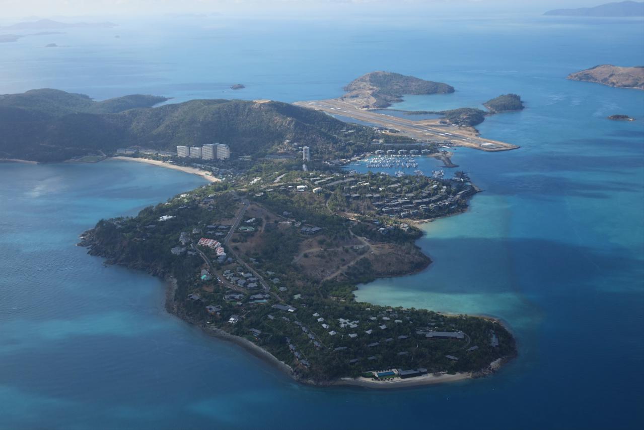 Tour, vuelo y playa Whitehaven en Australia .