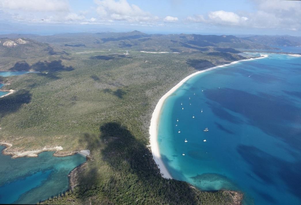 Tour, vuelo y playa Whitehaven en Australia